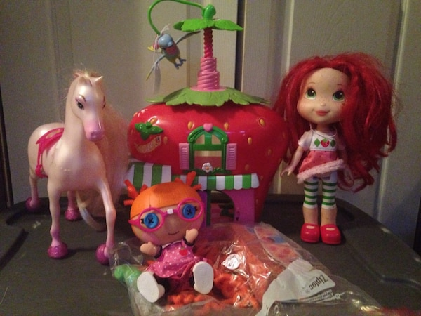 Strawberry shortcake doll Berry Café Disney princess pony or Lala Loopsy doll your choice $6each toy
