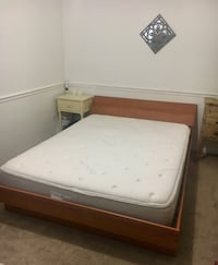 Queen Bedframe, Headboard and mattress Arlington, 22205