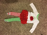 MudPie Infant Christmas Outfit