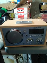 brown and grey iCraig stereo component