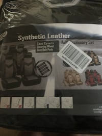 Premium Synthetic Leather Seat Covers with Shoulder pads Brampton, L6X 5C1