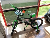 "New Green & Black 18"" Surge Bike With Training Wheels"