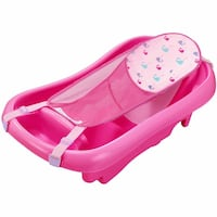 Pink baby tub