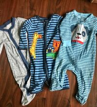 baby's two blue and one gray footie pajamas Hagerstown, 21742