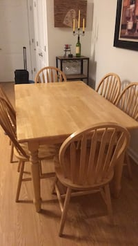 Table and 6 chairs. solid wood. Wharton, 07885
