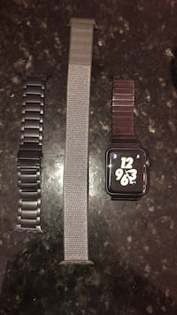 Apple Watch 3 42mm Nike Edition with GPS and Cellular + two metal straps and one workout Gainesville, 20155