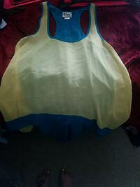 Yellow and teal high low tunic - XL Frederick, 21701