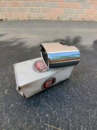 Fiat authentic chrome exhaust tail pipe