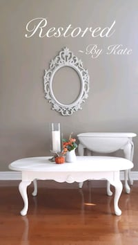 Solid Wood Coffee Table & Side Table in Soft White Barrie, L4N 0T3
