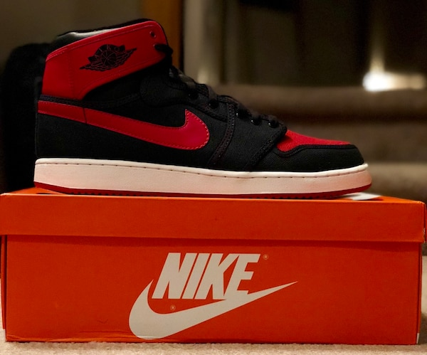 7e89f990710c Used Jordan 1 - black and red nike high top sneaker for sale in ...
