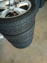 four American Eagle 4x100 car wheel with tire set
