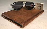 NEW WITH TAGS Vintage BAUSCH & LOMB P-15 Polarized Aviator Sunglasses Black Boulder, 80303