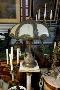 two brown-and-white table lamps Hialeah, 33018