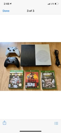 XBOX ONE 3 GAMES 2 CONTROLLERS New Rochelle, 10801