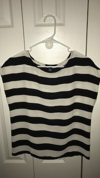 Women's black and white stripes shirt Miami