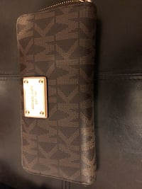 Genuine monogrammed brown michael kors long wallet