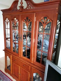 brown wooden framed glass display cabinet Vaughan, L6A 0Y2
