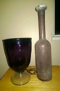 2 very large purple vases.$10 each or both for $15 Abbotsford, V2T 1W6