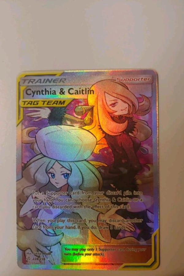 Used Cynthia & Caitlin Pokemon Card for sale in Winter ...
