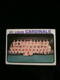 1973 Topps Baseball Card #219 St.  Louis Cardinals Team Record Card
