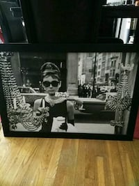black wooden framed photo of Audery Hepburn Amarillo, 79102