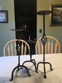 Set of three iron candle holders Roseville, 95747