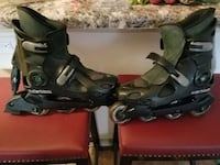 7.5 size rollerblades with pads