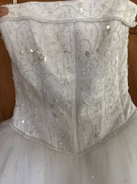 White Crystal Top Wedding Ballgown  Smyrna, 19977