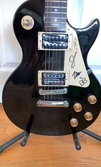 RISE AGAINST autographed electric guitar