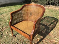 American mid-century Cane inset Arm Chair Centreville, 20120