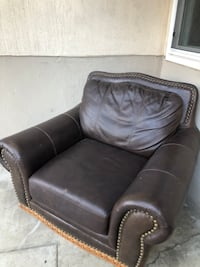 Brown Leather Sofa Chair (best offer)