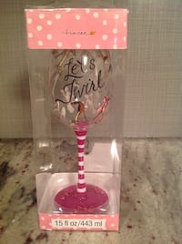 Decorated wine glass Charlotte, 28209
