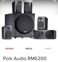 Polk rm6200 speakers and subwoofer