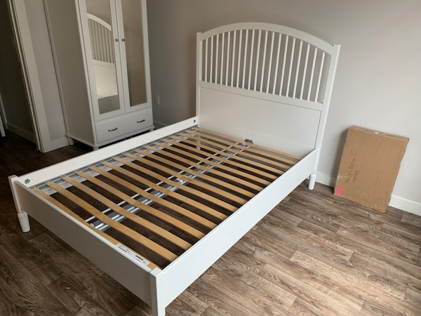 IKEA Tyssedal Bedroom Set - Bed, Wardrobe, and Night Stand
