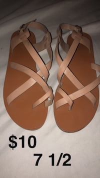 pair of brown leather sandals San Benito, 78586