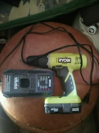 Drill with charger and battery