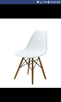 Lucas White Wood Grain Accent Chairs (Set of 2) Toronto, M9W 3R7