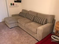 Gray suede 3-seat sofa Earlysville, 22936