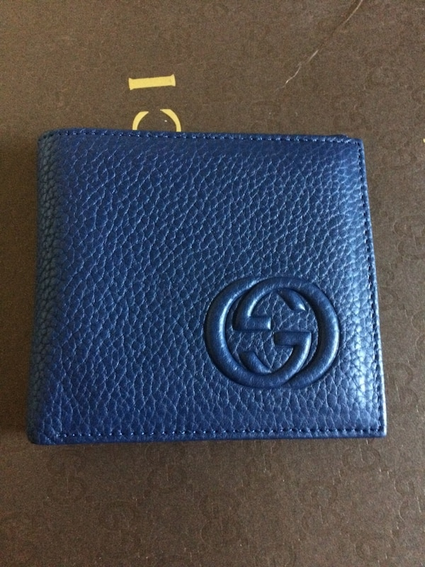 031f0cb3e46d76 Used blue leather Gucci bifold wallet for sale in Louisville - letgo