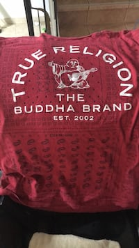 Red and white true religion shirt Waterloo, N2J 4H9
