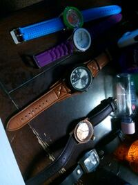 assorted-color chronograph watch lot