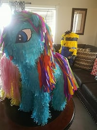blue and yellow my little pony pinata