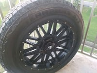 22 inch black rims with brand new tires Toronto