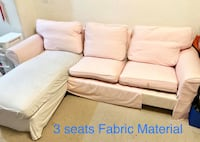 Sectional sofa 3 seat . Fabric material. Smoke free and pet free home Milpitas, 95035