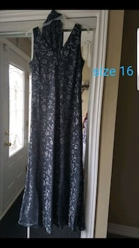Charcoal grey evening dress size 16 in excellent condition