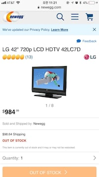 "LG ""42"" TV with stand 라스베가스, 89147"