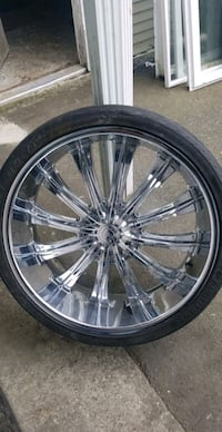 26in chrome rims and tires  Surrey, V3X 1T2