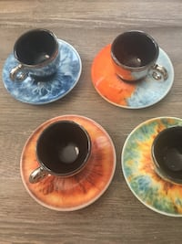 2018 Illy Art Collection Marc Quinn Iris 4-SM Espresso Cups/4-Saucers Washington, 20001