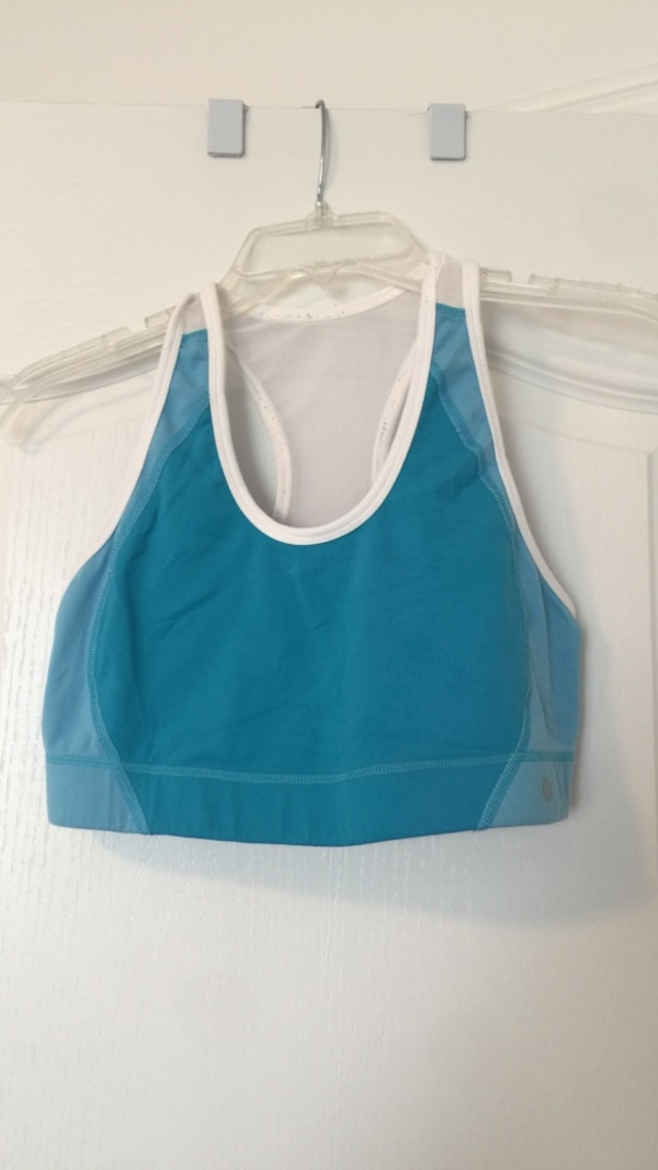 3ce94036bd8a9 Used Lululemon white and blue racerback sports bra for sale in Innisfil -  letgo