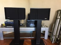 Bose 301 series lll Speakers Brand New condition !!! With floor stands & wall mounts Cranston, 02910